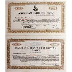 Aircraft Company Stock Certificates, CO - Denver,