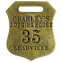 Leadville Lodging House Key Tag, CO - Leadville,Lake County