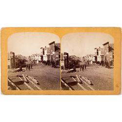 Leadville Street Scene Stereoview, CO - Leadville,Lake County
