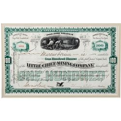 Little Chief Mining Co. Certificate, CO - Leadville,Lake County