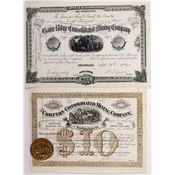Rosita Stock Certificate Grouping, CO - Rosita,Custer