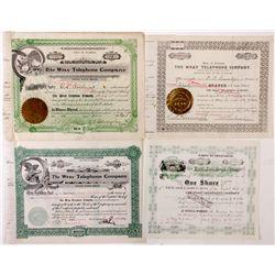 Wray Telephone Company Stock Certificate Grouping, CO - Wray,Yuma