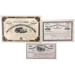 Dakota Territory Stock Certificate Grouping, Dakota - Deadwood,