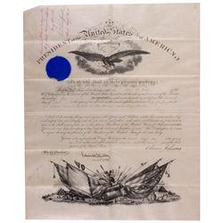 Andrew Johnson Signed Commendation, DC - Washington,
