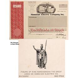 Hawaiian Stock Certificate, HI - Honolulu,
