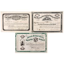 New Jersey Underground Electric and Insulated Wire Stock Certificate Group 1882, NJ - ,