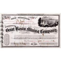 Great Basin Mining Co. Certificate, NV - Unionville,Humboldt