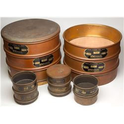 Large and Miniature Mining Sieve Sets, NV - ,