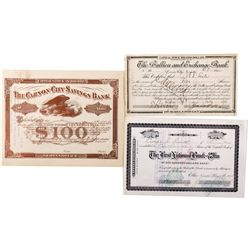 Nevada Bank Stock Certificate Group, NV - ,