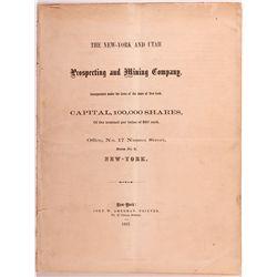 New York & Utah Prospecting and Mining Co. Prospectus, NV - ,
