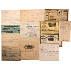 Billhead Collection, NV - Carson City,