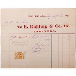 E. Ruhling & Co. Assay Document, NV - Gold Hill,Storey County