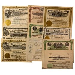 Goldfield Area Mining Stocks Certificates, NV - Goldfield,Esmeralda County