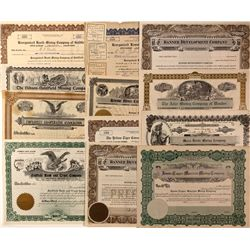 Goldfield Stock Certificates, NV - Goldfield,Esmeralda County