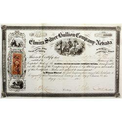 Elmira Silver Bullion Company of Nevada Stock, NV - Reese River Area,