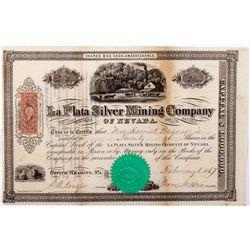 La Plata Silver Mining Company of Nevada Stock, NV - Nye County,