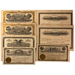 Rawhide Stock Certificates, NV - Rawhide,Mineral County