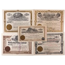 Scarce Rawhide, Nevada Stock Certificates, NV - Rawhide,Mineral County
