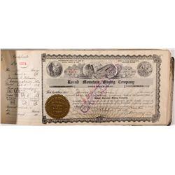 Original 1908 Round Mountain Mining Co. Stock Certificate Book, NV - Round Mountain,Nye County
