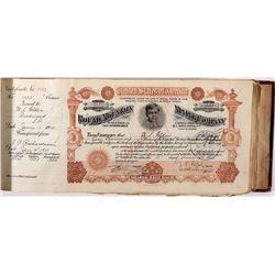 Rare Original Round Mountain Mining Company Stock Book, NV - Round Mountain,Nye County