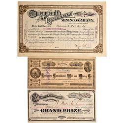 Tuscarora Mine Stock Certificate, NV - Tuscarora,Elko County