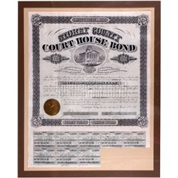 Courthouse Bond Certificate, NV - Virginia City,Storey County