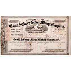 Gould & Curry Silver Mining Co. Certificate, NV - Virginia City,Storey County