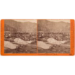 Mining Town Stereoview, NV - Virginia City,Storey County