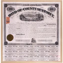 Storey County Bond Certificate, NV - Virginia City,Storey County