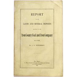Report on the Lands and Mineral Deposits, UT - ,