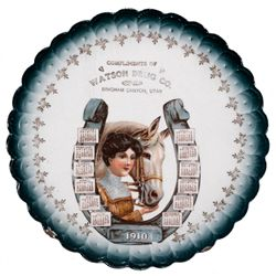 Watson Drug Co. Calendar Plate, UT - Bingham Canyon,Salt Lake County