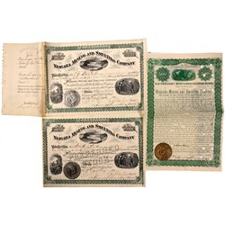 Niagara Mining and Smelting Company Stock and Bond Certificates *Territorial*, UT - Bingham Ter.,Sal