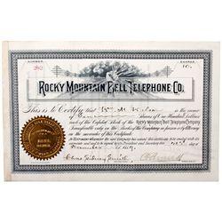 Rocky Mountain Bell Telephone Company Stock, UT - Salt Lake City,