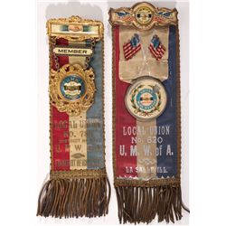 United Mine Workers Union Ribbons, IL - LaSalle,