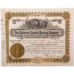 California Eastern Railway Co. Stock, CA - Goffs,San Bernadino