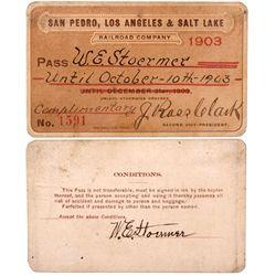San Pedro, Los Angeles & Salt Lake RR Pass, CA - San Pedro,Los Angeles County