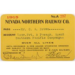 Nevada Northern Railway Pass, NV - Ely,White Pine County