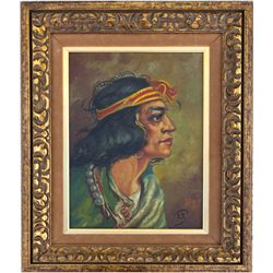 American Indian Framed Painting,  - ,