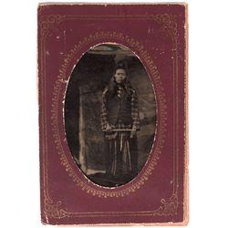 Native American Man Ferrotype, SD - ,