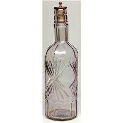 Back Bar Locking Whiskey Bottle,  - ,