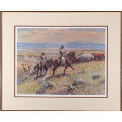 Cowboy Lithograph,  - ,
