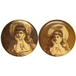 Pictorial Naughty Nellie Pocket Mirrors,  - ,