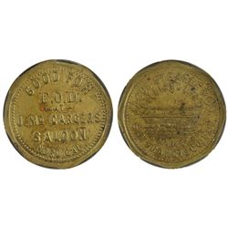 J. McCargers Saloon token, CA - Nord,Butte County