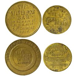 John Dumas and Silver Bow Bar Butte Tokens, MT - Butte,Silver Bow County