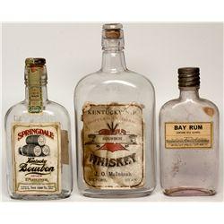 Paper Label Whiskey Bottle Trio, UT - ,