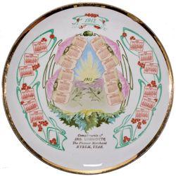 1912 Calendar Plate, UT - Hyrum,Cache County