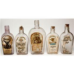 19th Century Paper Label Whiskey Bottles, UT - Salt Lake City,