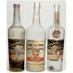 Reiger & Lindley Whiskey Bottle Trio, UT - Salt Lake City,
