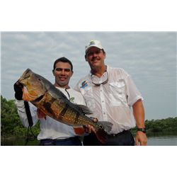 9-day/8-night Peacock bass fishing trip for one angler in the Amazon