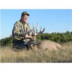 5-day whitetail deer hunt for one hunter in Canada - includes trophy fee